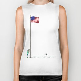 Pole America American US USA Flag Funny Pictures Humor Funny Gift Ideas Biker Tank