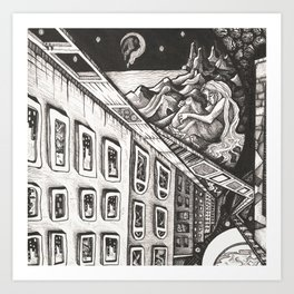 Chasm: Detail 1 Art Print