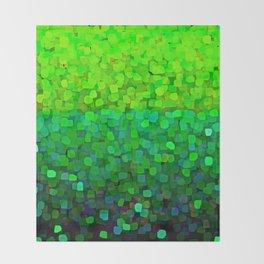 Glitter Sparkles Green Throw Blanket