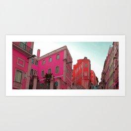 Pink City 2 Art Print