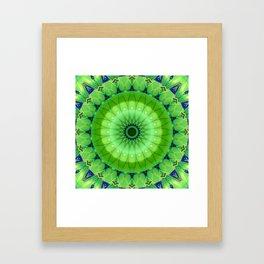 Mandala foretaste of spring Framed Art Print