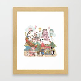 the Day of the rollercoaster Framed Art Print