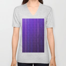 Royal Purple with Distressed Stripes Unisex V-Neck