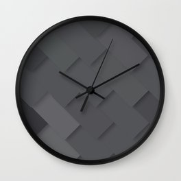 Grey/gray pattern, layered like shingles, tiles or those paint swatches you just cannot choose from! Wall Clock