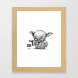 Lil Yoda Framed Art Print