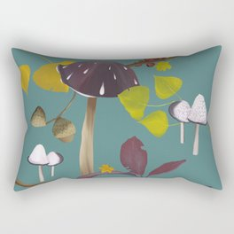 Autum mushroom romance Rectangular Pillow