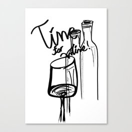 Time for Wine IV Canvas Print
