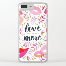 Love Yourself More #inspirational #society6 #decor Clear iPhone Case