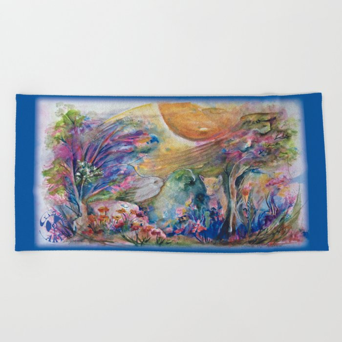 Dance of Nature Beach Towel