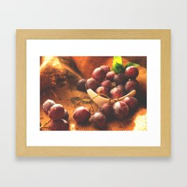 Fresh Grapes food Collection Framed Art Print