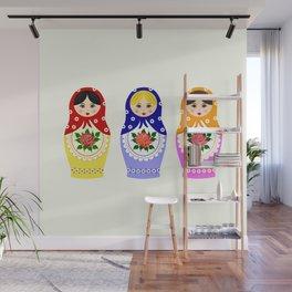 Russian matryoshka nesting dolls Wall Mural
