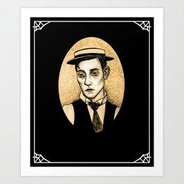Buster Keaton Art Print