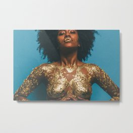 Gold and Skin Metal Print