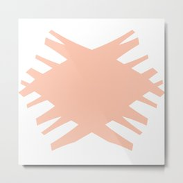 Accordian X | peach Metal Print