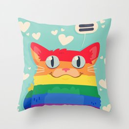 LGBT Cat Throw Pillow
