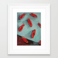 swedish Framed Art Prints featuring Swedish Fish by Maryann Didriksen Contemporary Painter