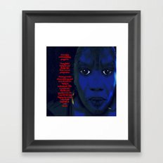 Angry Black Woman Framed Art Print