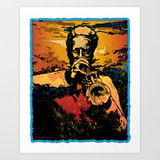 Trumpet Fire Art Print