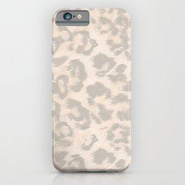 Beige leopard print . iPhone Case