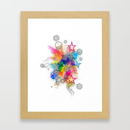 Color blobs by Nico Bielow Framed Art Print