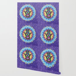 Lucky Hamsa Mandala Wallpaper