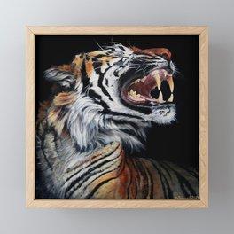 Roar, Tiger in Profile Framed Mini Art Print