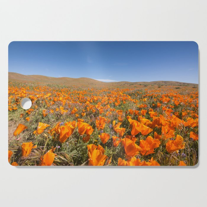 Blooming poppies in Antelope Valley Poppy Reserve Cutting Board
