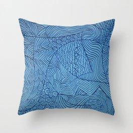 Blue Rough Start Throw Pillow