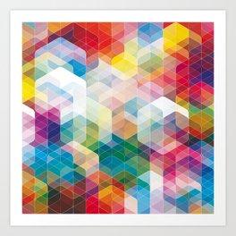 Cuben Curved #3 Geometric Art Print. Art Print
