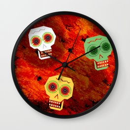 Trio of Skulls Wall Clock