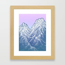 """遠望 series -""""Valley"""" - Linocut Framed Art Print"""