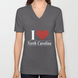 I Love North Carolina Unisex V-Neck