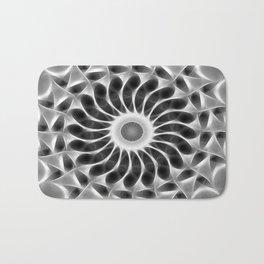 Gray Kaleidoscope Art 29 Bath Mat