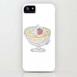 V is for Vanilla Pudding iPhone Case