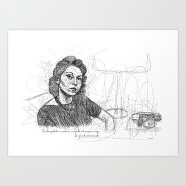 Clarice Lispector in Lines Art Print