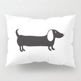 Simple black and white dachshund Pillow Sham