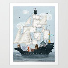 a nautical adventure Art Print