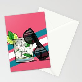Mojito Sunglasses Stationery Cards