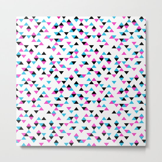 Electric Triangles Metal Print