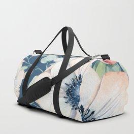 Summer Flowers Blue #society6 #buyart Duffle Bag