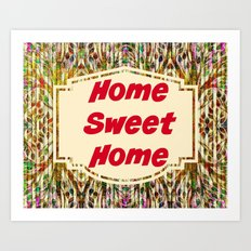 Stained Glass Home Sweet Home  Art Print