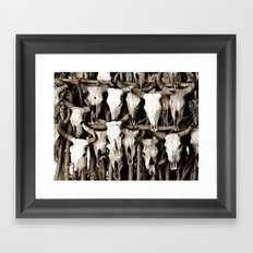 Mexican Cow Skulls Framed Art Print