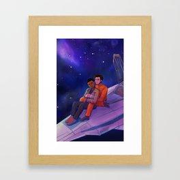 Let Me Play Among the Stars Framed Art Print