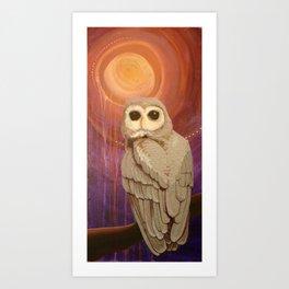 Skulking by Owl Light Art Print
