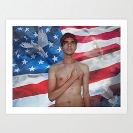 The American Dream - El Sueño Americano Art Print