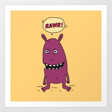 Rawr! Monster! Art Print