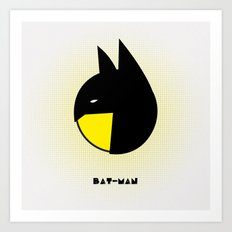 bat-man or pac-man? Art Print