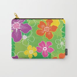 Hawaiian inspired tropical florals Carry-All Pouch