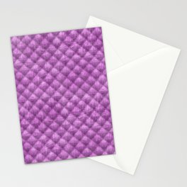 Quilted Purple Velvety Pattern Stationery Cards
