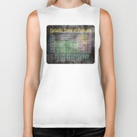 periodic table Biker Tanks featuring Old School Periodic Table Of Elements - Chalkboard Style by Mark E Tisdale